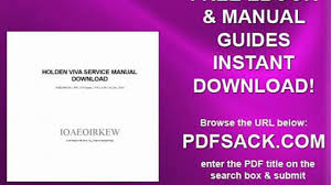 holden viva service manual download video dailymotion