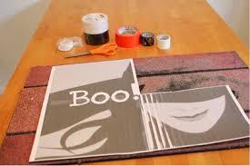 diy halloween duct tape doormat