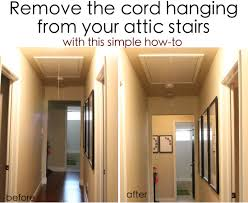 get rid of that ugly cord hanging from your attic stairs