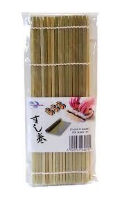 stuoia bamboo stuoia di bambù per sushi a cannette piatte 1 79 asia market