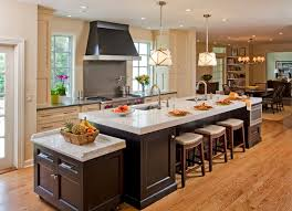 Kitchen Islands With Sink And Seating Lighting Ideas Rangehood With Recessed Lights Over Kitchen Island