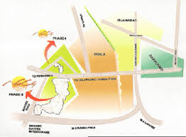 map of new city new city phase 2 wah cantt b w motor way g t road