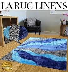 Blue Fuzzy Rug La Rug Linens Huge Blowout Sale New 8x10 Light Blue Dark Blue Aqua