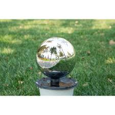 12 Inch Glass Gazing Balls Mainstays Silver Gazing Ball Walmart Com