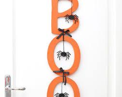 Halloween Outdoor Decorations Ireland by Halloween Door Decor Etsy