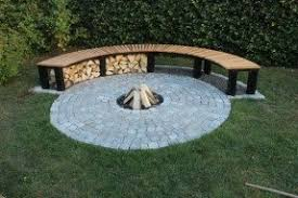 diy curved bench fire pit benches foter