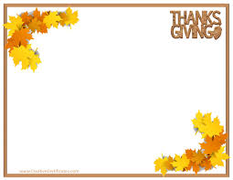 free thanksgiving borders gclipart
