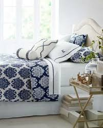 Block Print Bedding In Coastalinspired Blues Kalyana Textiles - Blue and white bedrooms ideas