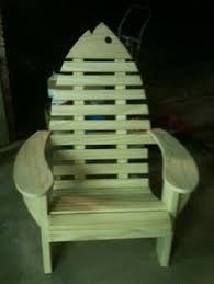 Wooden Skull Chair Adirondak Chair Paddle Style Back Ocean House Pinterest