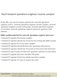 Sample Resume Objectives For Network Engineer by Top8networkoperationsengineerresumesamples 150517030522 Lva1 App6892 Thumbnail 4 Jpg Cb U003d1431831964