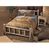 amazon com rustic aspen log king canopy bed kitchen u0026 dining