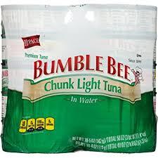 bumble bee chunk light tuna amazon com bumble bee chunk light tuna in water 5oz pack of 10