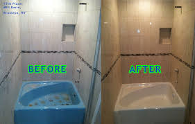 Bathroom Tile Glaze Bathtub Reglazing Cost Cultured Marble Before And After