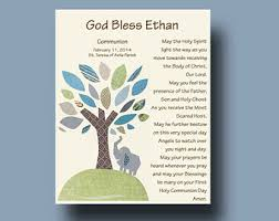 communion gift for boy boy baptism poem etsy