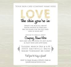 Mary Kay Party Invitation Templates Skin Care Party Invite Digital Jpg Only