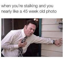 Memes About Stalkers - when you re stalking and you nearly like a 45 week old photo
