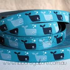 whale ribbon whale 25 yds 1 lime hot pink aqua fabric ribbon