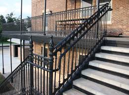 Indoor Banisters And Railings Stairs Astounding Cast Iron Railing Cast Iron Railing Panels