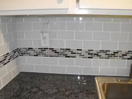 Cool Kitchen Backsplash Subway Tile Kitchen Backsplash Subway by 22 Light Grey Subway White Grout With Decorative Line Of Mosaic