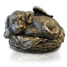 dog cremation sleeping angel dog cremation urn bronze