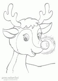rudolph red nosed reindeer coloring print color fun
