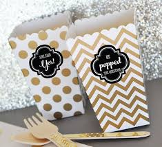engagement party favors he popped the question popcorn boxes w stickers engagement