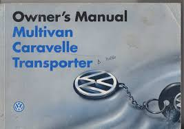 volkswagen t4 multivan 1996 owners manual pdf
