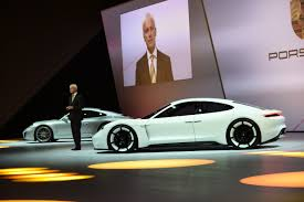new porsche electric porsche mission e electric concept shown at frankfurt