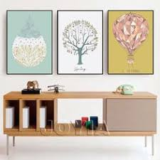 colorful deer head flower feather painting canvas pictures for