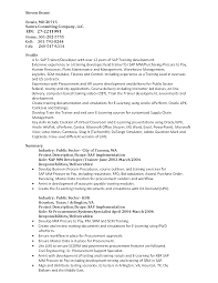 Sap Fico Sample Resume 3 Years Experience Sample Resume With Sap Experience Free Resume Example And