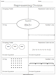 representing division free worksheet where students represent