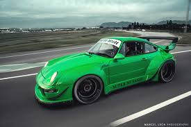 rauh welt porsche green rwb 993 porsche photoshoot by marcel lech autofluence