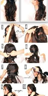 step bu step coil hairstyles easy curly hairstyles step by step popular long hairstyle idea