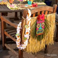 tropical luau mason jar centerpiece idea luau raffia decorating