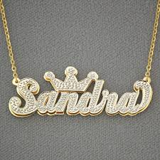 necklace with name ebay images 10k gold personalized 3d double plate name pendant necklace jpg
