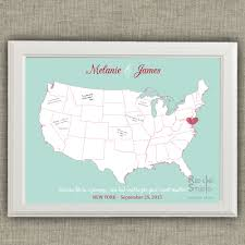 Map Guest Usa Map Wedding Guest Book Alternative Printable Guest Book