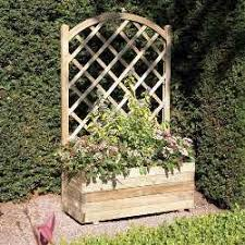 Wooden Planter With Trellis Wood N Garden Timber Fencing Garden Furniture Decking Summer