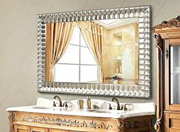 Large Framed Bathroom Mirror Large Decorative Rectangular Wall Mirrors Mirror Design