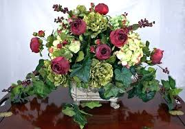 White Floral Arrangements Centerpieces by Dining Table Glass Vase Of White Flowers And Stained Glass