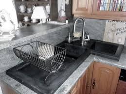 Double Kitchen Sink Double Kitchen Sink Ductal Uhp Concrete Corner With
