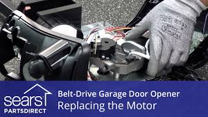 replacing the motor on a belt drive garage door opener youtube