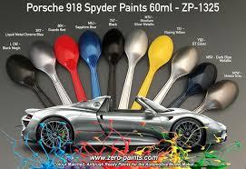 porsche 918 colour matched paints 60ml zp 1325 zero paints