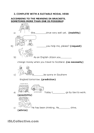 study and practice modal verbs esl worksheet of the day by