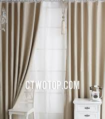 Stylish Blackout Curtains Stylish Solid Sound Absorption Beige Blackout Curtains