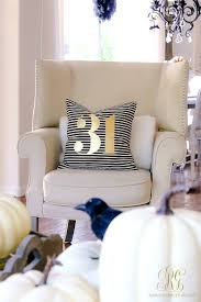 halloween pillow 5 days of halloween day 2 classy halloween mantel and family room