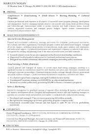 Sales Coordinator Resume Sample by Special Events Coordinator Resume Corporate Event Planner Sample