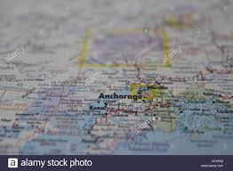 Anchorage Alaska Map by Anchorage Alaska Map Stock Photo Royalty Free Image 104459916