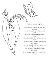 La comptine du muguet  coloriage muguet