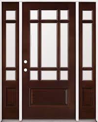 9 Lite Exterior Door Classic 9 Lite Mahogany Front Entry Door With Sidelites