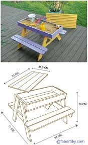 How To Build A Wooden Picnic Table by Best 25 Kids Picnic Table Ideas On Pinterest Kids Picnic Table